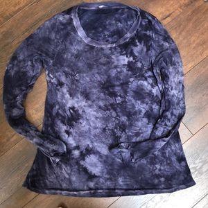 Lamade open back long sleeve tie dye tee